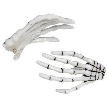 Skeleton Hand Hair Clips 2ct