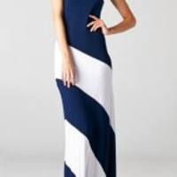 Cadet Blue Strapless Maxi Dress