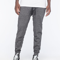 Micros Textured Mens Jogger Pants Dark Grey  In Sizes