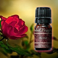 Rose Perfume Oil: 5mL Amber Bottle Sweet Floral Artisan Fragrance