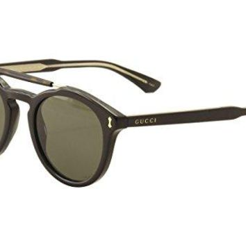 Gucci GG 0124 S- 001 BLACK / GREY Sunglasses
