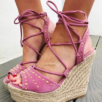 Tell The World Wedges: Dusty Rose