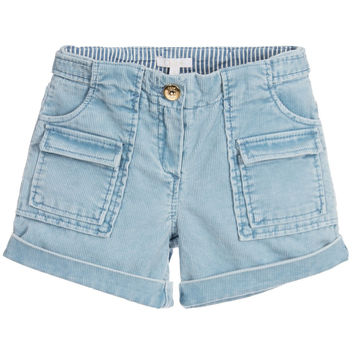 Chloé Girls Sky Blue Corduroy Shorts