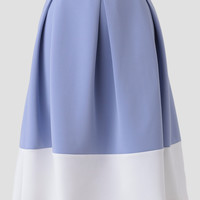 East Hampton Colorblocked Midi Skirt
