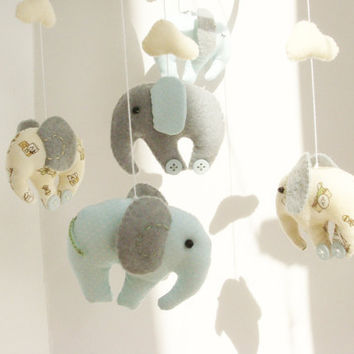 Elephant Baby Mobile Crib Decor