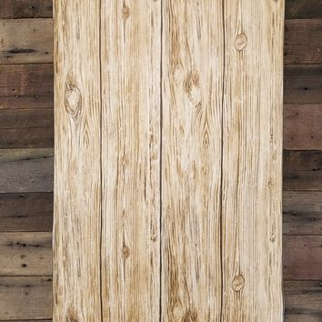 Brown Distressed Shiplap Rustic Wood Peel and Stick Wallpaper