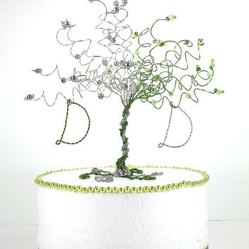 Tree Cake Topper When Two Become One Custom Wire Tree Wedding Sculpture