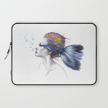 When I was a fish Laptop Sleeve by EDrawings38