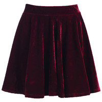 ROMWE | Crimson Metallic Skirt, The Latest Street Fashion