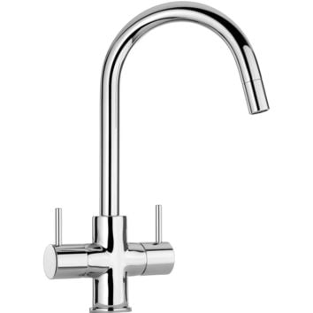 Elba two handle pull-down kitchen faucet in Chrome