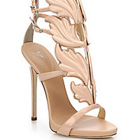 Giuseppe Zanotti - Leather Wing Sandals  - Saks Fifth Avenue Mobile