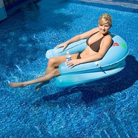 Rave Sports Sol Inflatable Lounge Chair Pool Float (Blue)