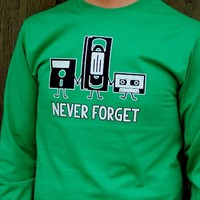 Never Forget Retro T-Shirt. Funny Long Sleeve Shirt. from Evangelina's Closet
