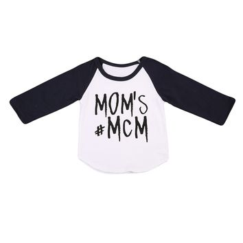 MOM'S MCM Letters Newborn Toddler Baby Boys Tops T-shirt