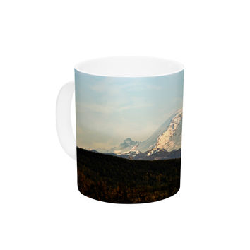 "Sylvia Cook ""Mt. Rainier"" Mountain Photo Ceramic Coffee Mug"