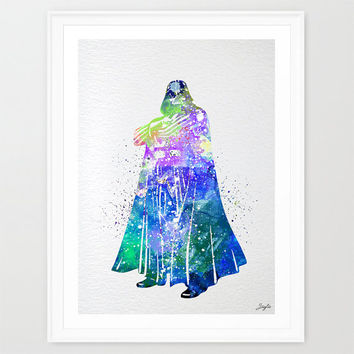 Darth Vader Star Wars Watercolor illustration Art Print,Nursery/Kids Art Print,Wedding,Birthday Gift, #207