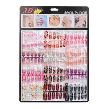 New Arrival 2018 144pcs Mixed Set False Nail Tips Artificial Fake Nails Art Acrylic Manicure Gel Nail tools Colorful