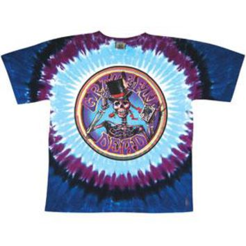 Grateful Dead Men's  Queen Of Spades Tie Dye T-shirt Multi