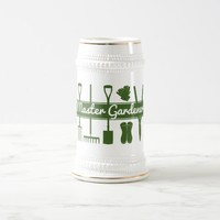 Master Gardener Simple Modern Forest Green Beer Stein