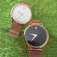 MOVADO Women Fashion Quartz Movement Watch Wristwatch3
