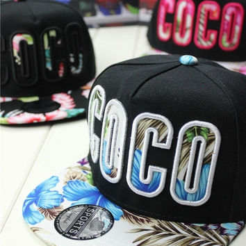 Unisex COCO Cap Boy Hip Hop Hats Beanie Cap Girl Hat Adjustable Baseball Cap Peak Cap Snapback