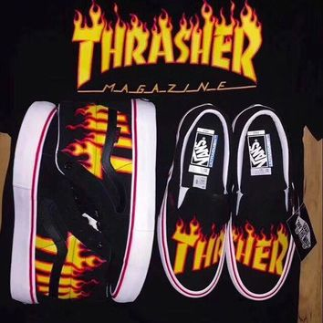 Best Online Sale Thrasher x Vans SK8 Hi Slip On Pro Casual Shoes
