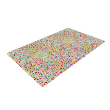 """Julia Grifol """"My Happy Flowers in Red"""" Woven Area Rug"""