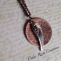 Guardian Angel Necklace,Spiritual Memorial Necklace, Remembrance Necklace, i closed my eyes and spoke to you a thousand silent ways