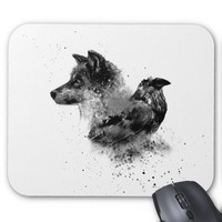 Wolf & Crow Mouse Pad