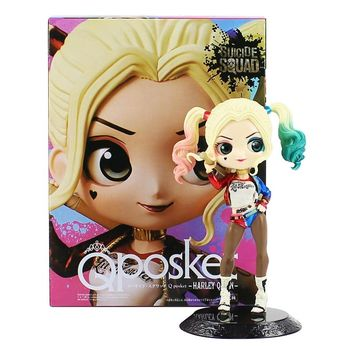 16cm Q Posket Harley Quinn Figure Toys Hot Movie Suicide Squad The Joker Harley Quinn PVC Action Figure Cute Model Toys For Gift