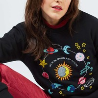 Cosmic Sweat Top by Tee & Cake | Topshop