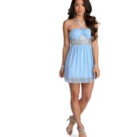 Jane Light Blue Beaded Prom Dress