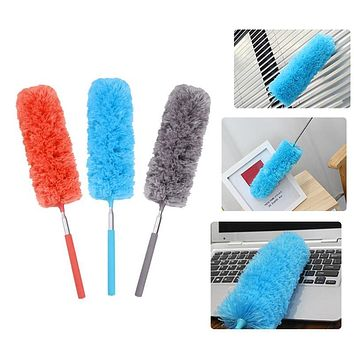 Adjustable Microfiber Dusting Brush Extend Stretch Feather Duster