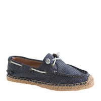 J.Crew Womens Sperry Espadrille Sneakers In Pinstripe
