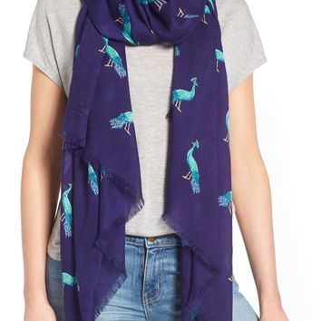 kate spade new york plume tissue weight oblong scarf | Nordstrom