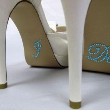 PEAPIX3 I Do Wedding Rhinestone Crystal Brides Shoe Sticker Diamante Love Something Blue = 1929317188