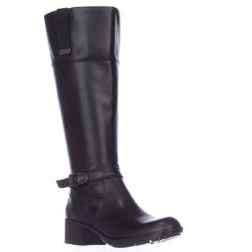 Bandolino Baya-Wide Calf Riding Boots - Black/Black