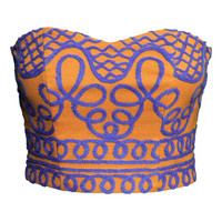 H&M Embroidered Bustier $29.95