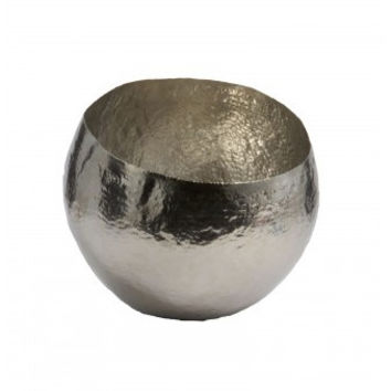 Silver Hammered Brass Bowl