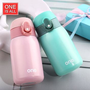 ONE IS ALL GYBL084 220ml Mini Thermos Vacuum Flask Tea Mug Water Bottle Teacup Drinking Cup Insulated  Water Bottle Travel Cup
