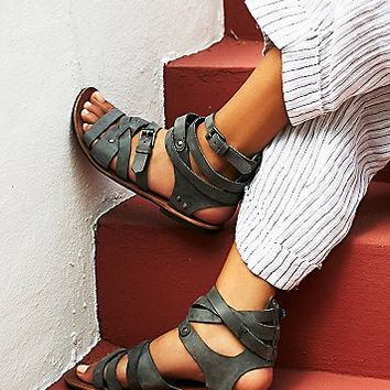 FP Collection Womens Durango Metal Gladiator Sandals
