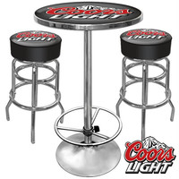 Ultimate Coors Light Gameroom Combo - 2 Bar Stools and Table