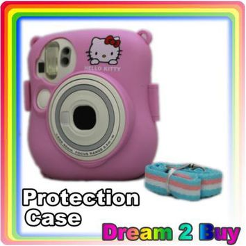 Fuji Instax Mini 25 Camera Pink Protection Case Bag