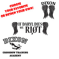 Assorted Styles Daryl Dixon The Walking Dead Decal Stickers