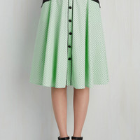 Heps and Dreams Skirt in Pistachio | Mod Retro Vintage Skirts | ModCloth.com