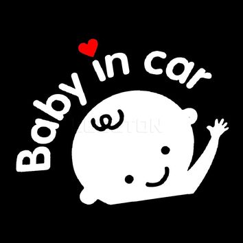 sikeo New 2017 NEW Car Sticker boy with Bow Baby in Car for car Styling Baby on Board car Decoration