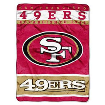 San Francisco 49ers 12th Man 60x80 NFL Blanket - Free Shipping in the Continental US!