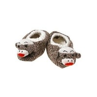 Sock Monkey Slippers Infant Sizes 2-3