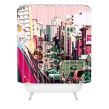 Shannon Clark Hustle And Bustle Shower Curtain