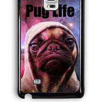 Samsung Galaxy Note Edge Case - Rubber (TPU) Cover with Funny Pug Life On Galaxy Design